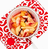 Fruit compote with vanilla pods