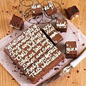 Browniekuchen für die Kinderparty