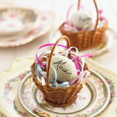 An Easter place setting for a child
