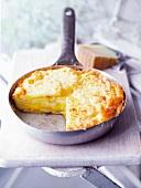 Potato tortilla with cheese