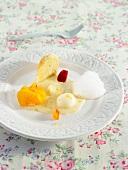 A selection of citrus fruit desserts