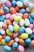 Colourful mini eggs