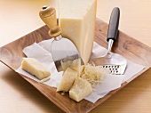 An arrangement of Parmesan cheese