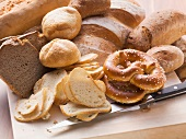 Stale pretzel, rolls and bread (for bread dumplings)