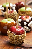 Assorted toffee apples