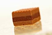 A caramel praline