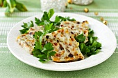 Quark terrine with parsley for Easter