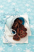 Chocolate biscuits with red pepper