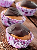 Chocolate and sea buckthorn muffins
