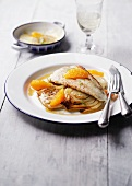 Brill with fennel and orange