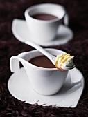 Hot chocolate with caramel cream