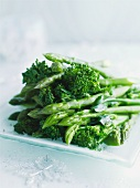 Broccoli and green asparagus