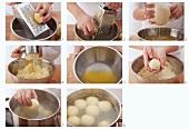 Kartoffelknödel aus gekochten und rohen Kartoffeln herstellen
