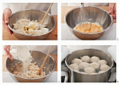 Quark dumplings being made