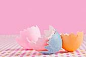 Coloured egg shells