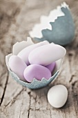 Sugared almonds in an egg shell