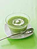 Cream of watercress and potato soup