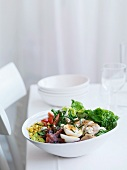 Cobb salad (mixed leaf salad with chicken, USA)