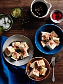 Tofu with a soy and vinegar vinaigrette