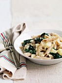Penne al cavolo nero (pasta with black cabbage, Italy)