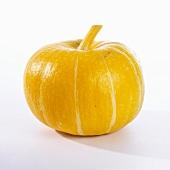A bright yellow pumpkin