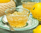 Lemon marmalade in a a glass bowl