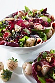 A summer salad with pineberries