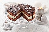 Chocolate cake with lemon mousse (Christmas)
