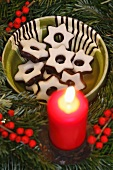 Fondant stars with an Advent wreath