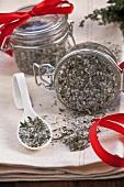 Herb salt in a jar as a gift