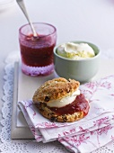 Scones with jam and clotted cream