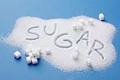 Zucker mit Schriftzug SUGAR