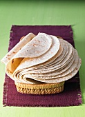 Plain tortillas in a basket