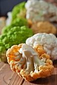 Orange Green and White Cauliflower