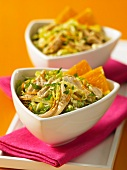 Oriental chicken salad with Chinese cabbage
