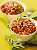 Orecchiette pasta with sausage and tomato ragout