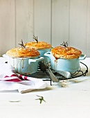 Beef pot pies with rosemary