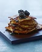 Potato pancakes with cherries