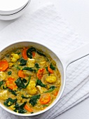 Vegetable stew with sweetcorn and tofu