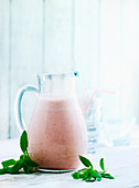 A strawberry and elderflower smoothie