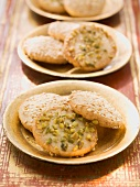 Sesame seed and pistachio nut biscuits