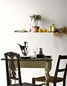 A simply laid kitchen table