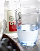 A glass of ouzo