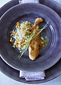 Fish fillet with Ebly risotto