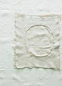 A cloth on a tablecloth