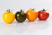 Four different tomatoes