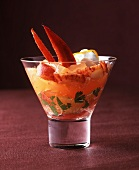 Lobster jelly with citrus fruits