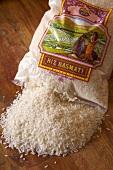 A sack of basmati rice