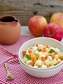 Potato salad with carrots, apple and dijon mustard vinaigrette