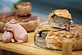 Pork pie, a piece removed (UK)
